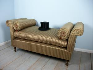 silk covered window seat settee daybed