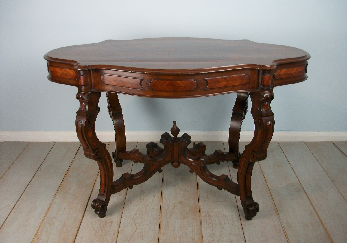 Italian Walnut Shaped Occasional Table