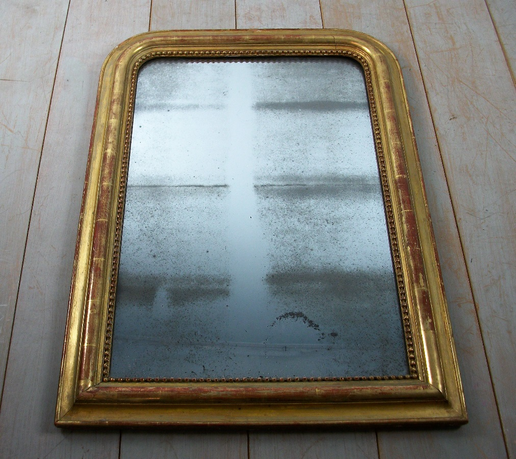 19th century French gilded mirror (1).JPG