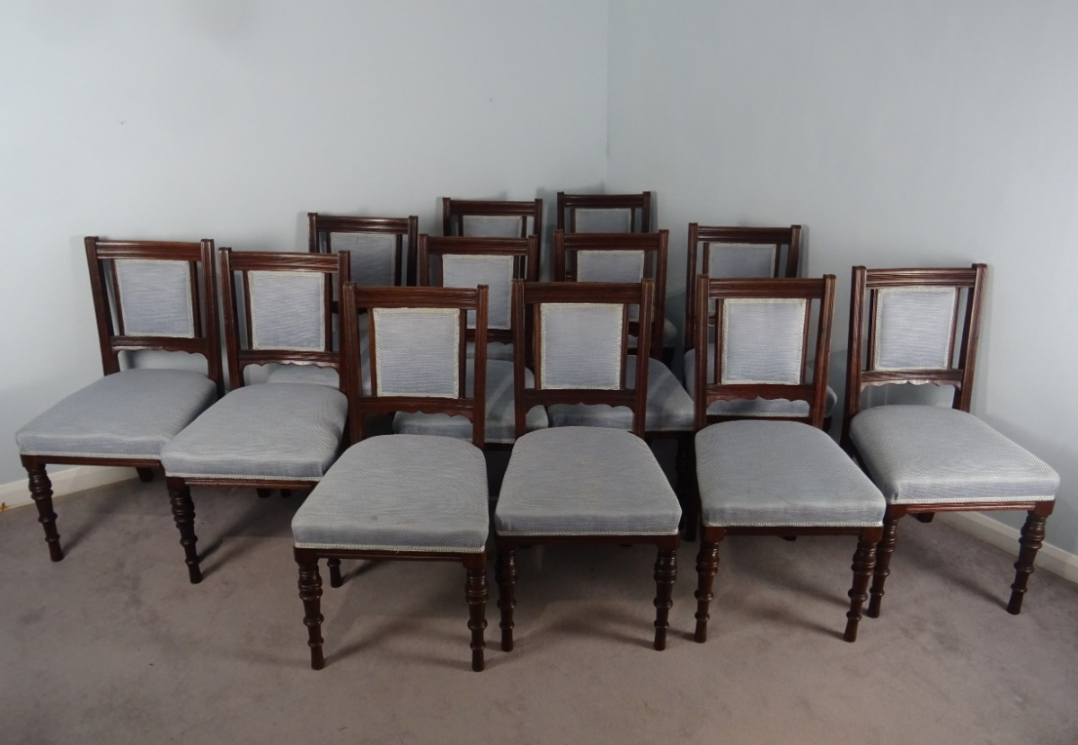 A Superb Set Of 12 Maple and Co. London Mahogany Dining Chairs (21).JPG