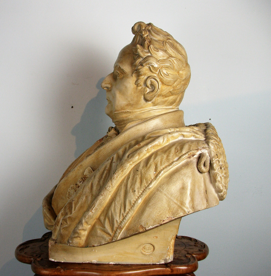 Plaster Bust of a Male Figure