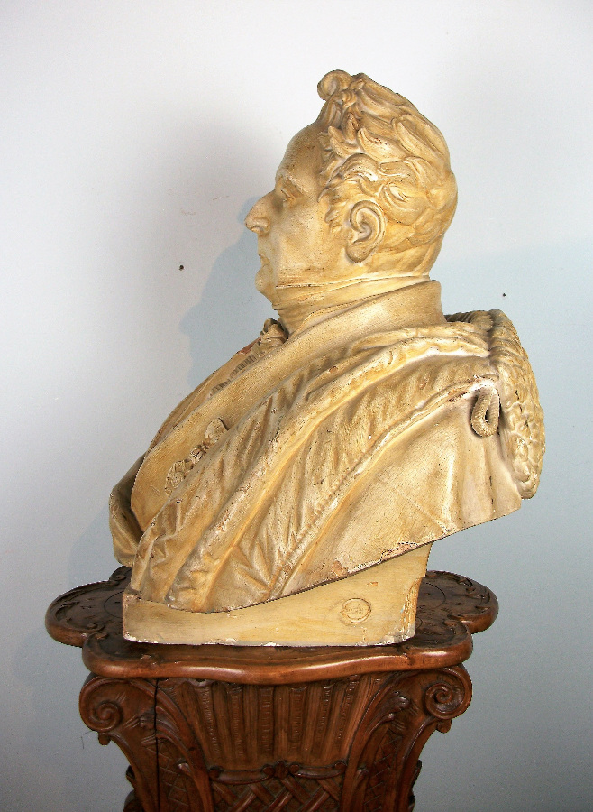 Antique Plaster Military Bust