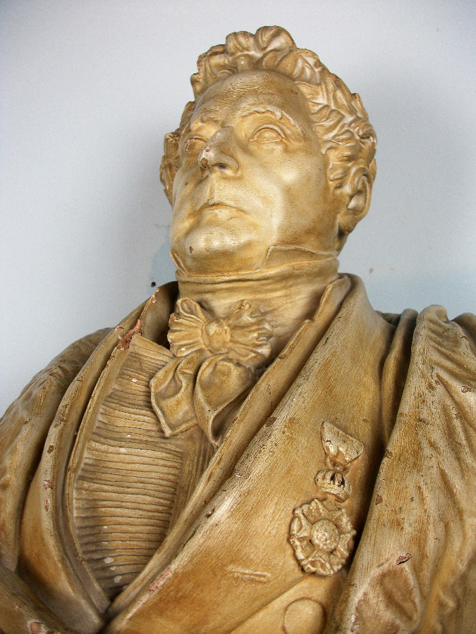 Antique Plaster Bust of a Military General