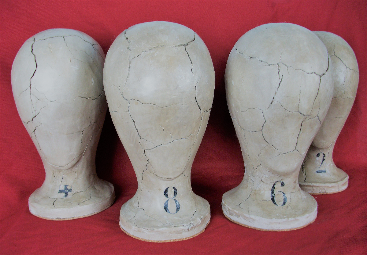 Art Deco Wig Stands