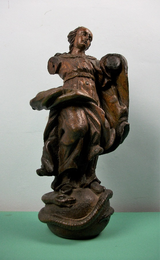 C17th Italian Carved Oak Statue of the Virgin Mary Madonna Immaculate Conception (3).JPG