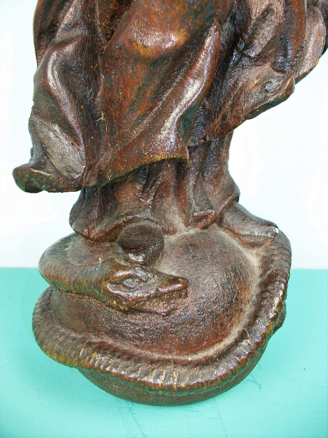 C17th Italian Carved Oak Statue of the Virgin Mary Madonna Immaculate Conception (8).JPG
