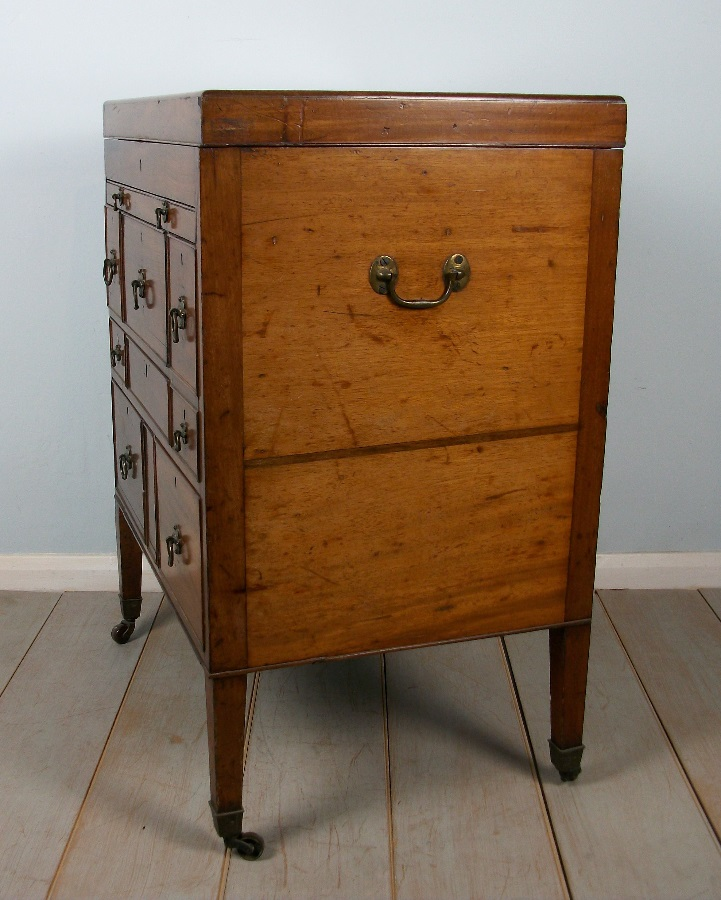 Mahogany Military Campaign Dressing Chest