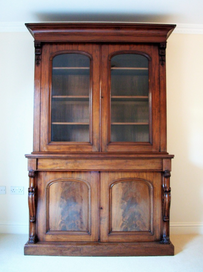 William IV Early Victorian Mahogany Bookcase