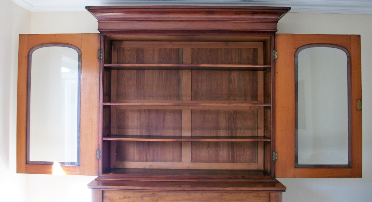 English Antique Mahogany Bookcase