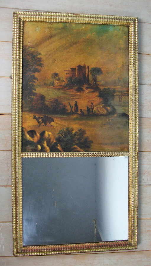 Gilded French Mirror with painting