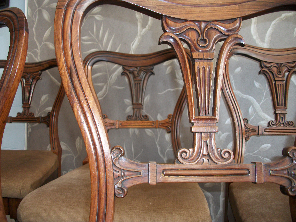 Set of four plus one Gillows Dining Chairs
