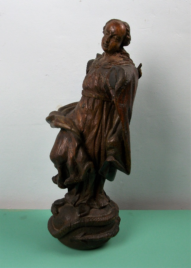 Italian Carved Oak Statue of the Virgin Mary Madonna Immaculate Conception (14).JPG