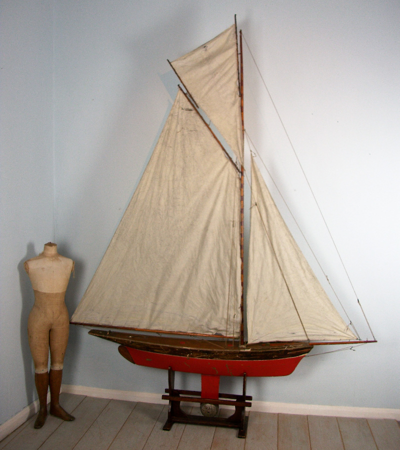 Victorian Large Lake Yacht on stand