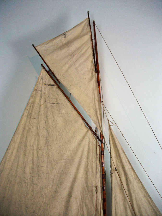 Wooden Large Pond Yacht on stand