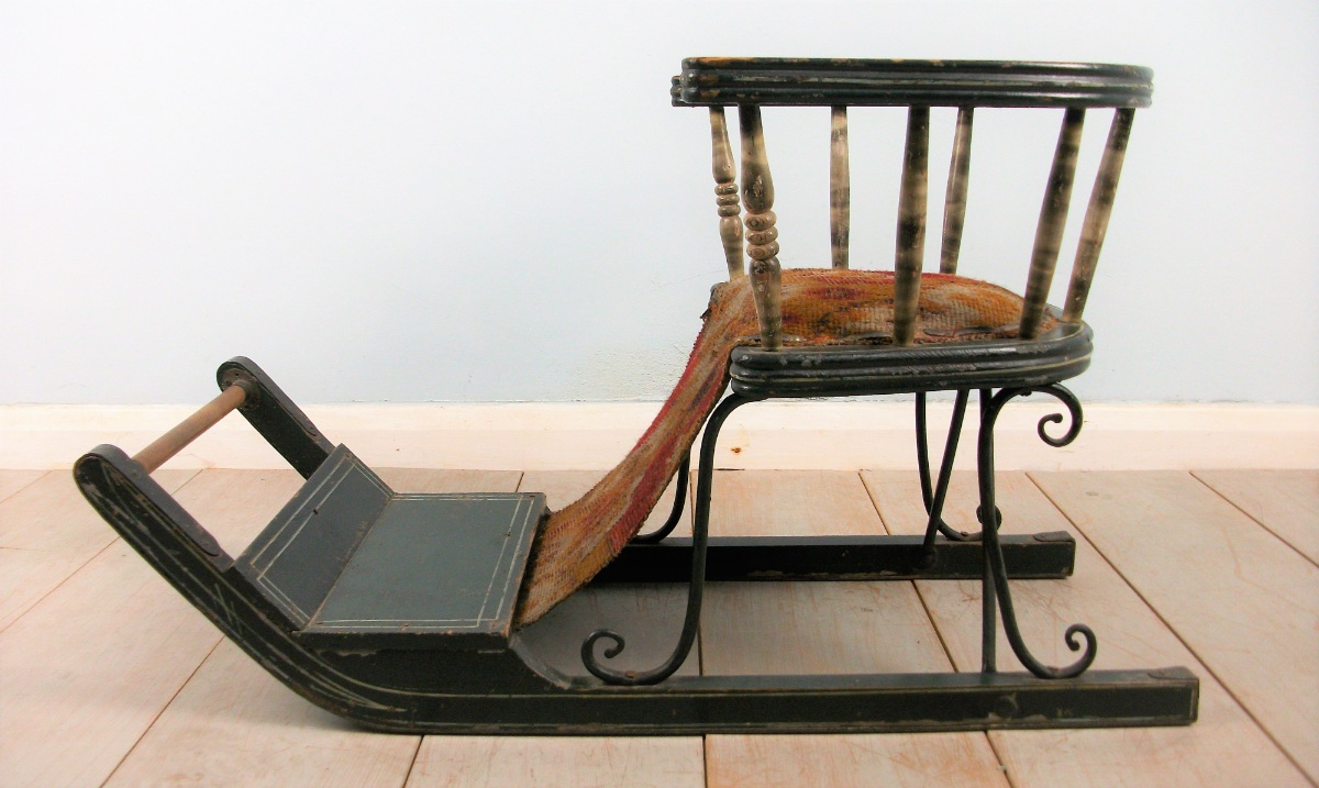 Late Victorian Child's Sleigh  Chair