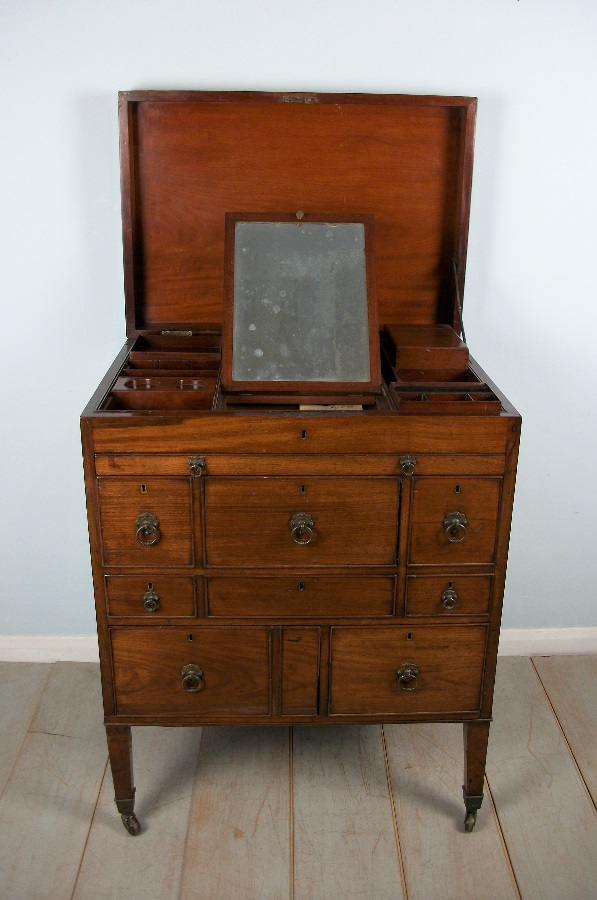 Mahogany Military Campaign Chest of Drawers