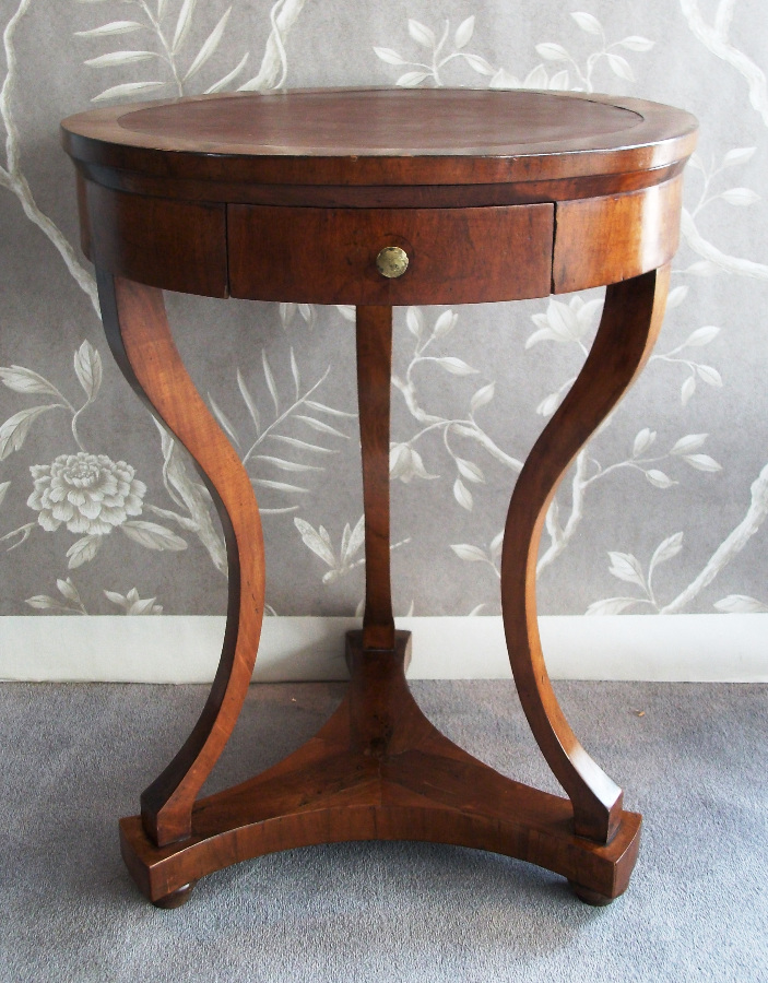 Veneered Walnut Empire Table