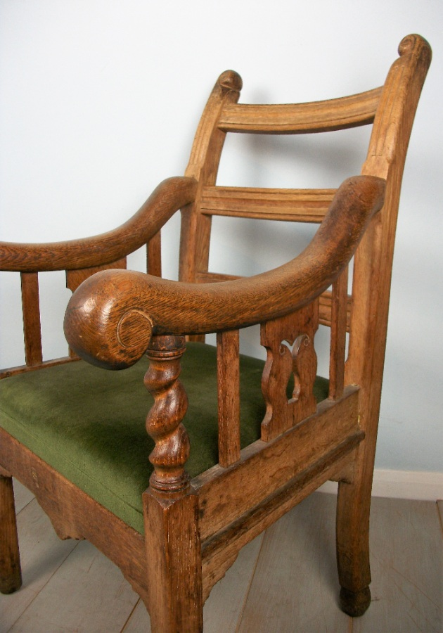 Oak Irish Open Armchair (17).JPG