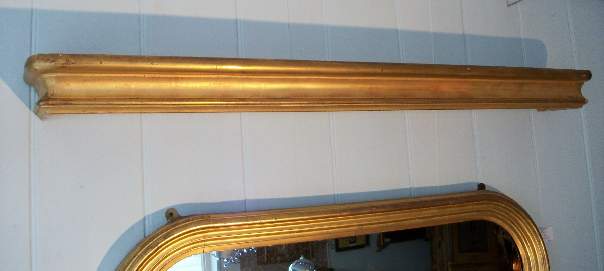A Pair of 19th century Gilded French Pelmets