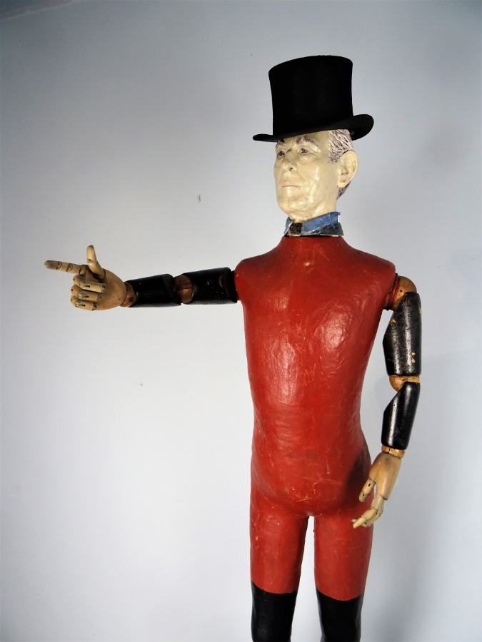 Painted Papier Mache Red and Black Mannequin (40).JPG