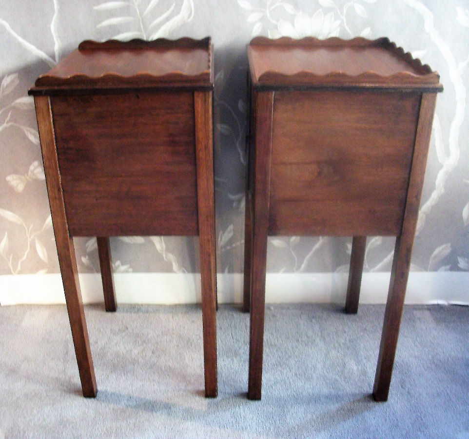 Pair of Georgian Style Bedside Cupboards
