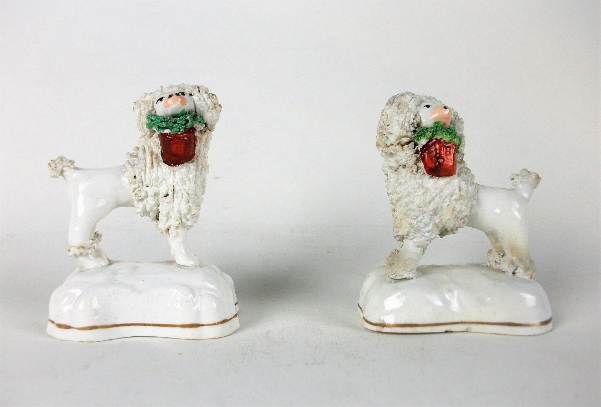 Pair of 19th century Staffordshire Poodles