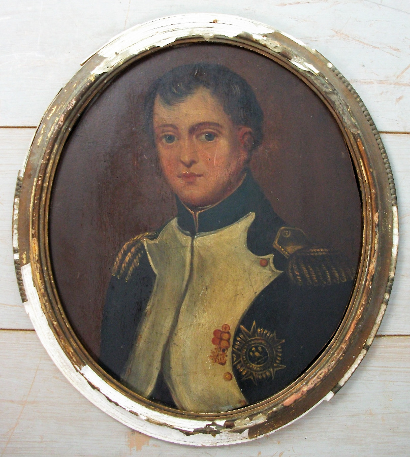 Oval portrait of Napoleon