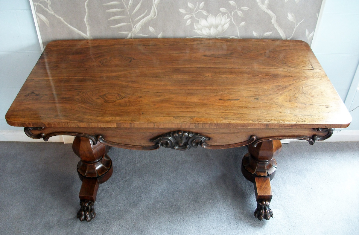 19th Century Rosewood Table Desk