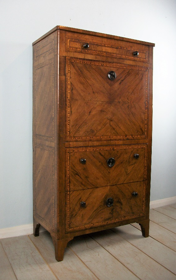 Italian Early 19th Century Secretaire Abattant - Escritoire – Bureau
