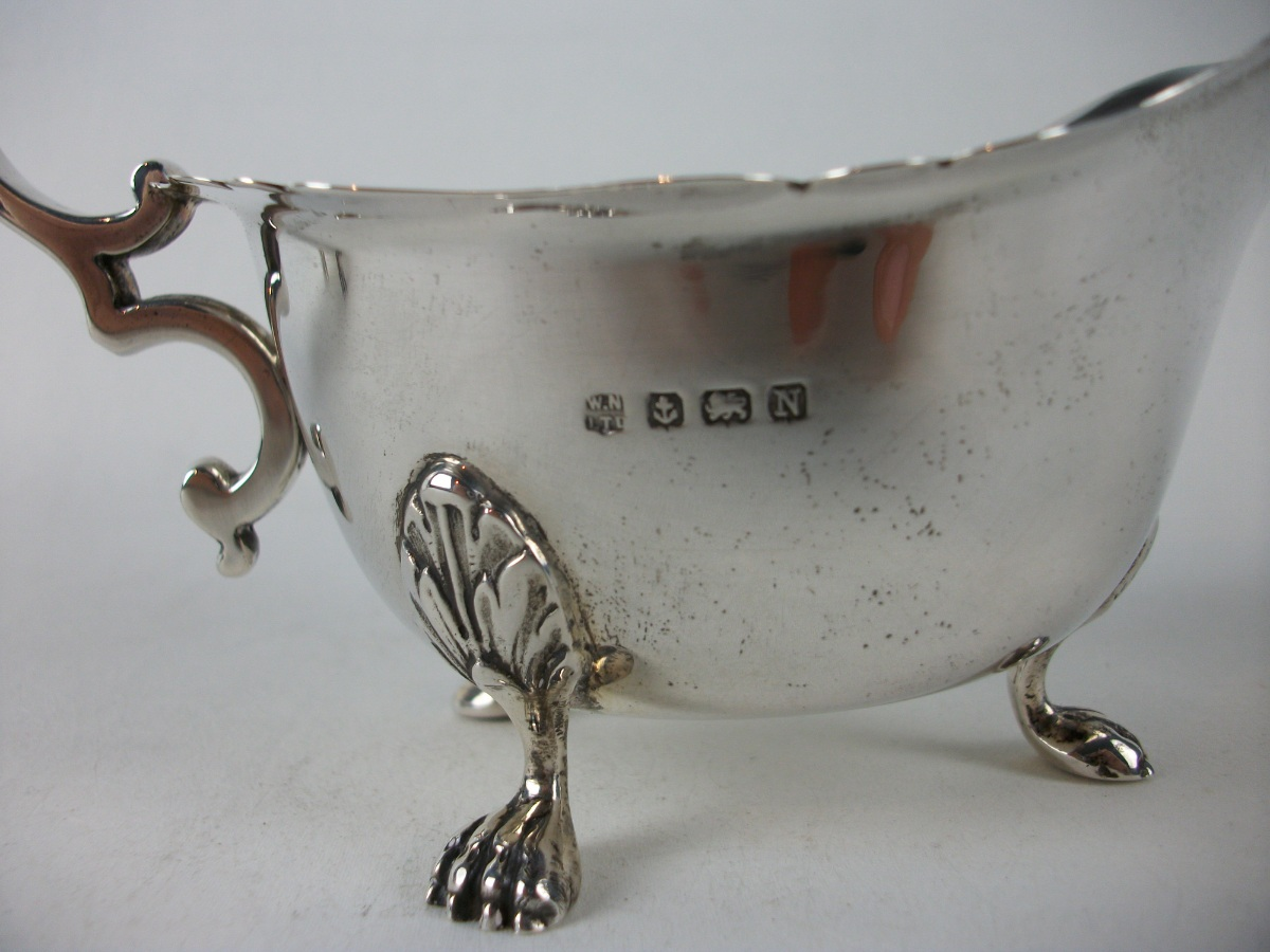 Pair of Silver Sauce Boats Birmingham 1937