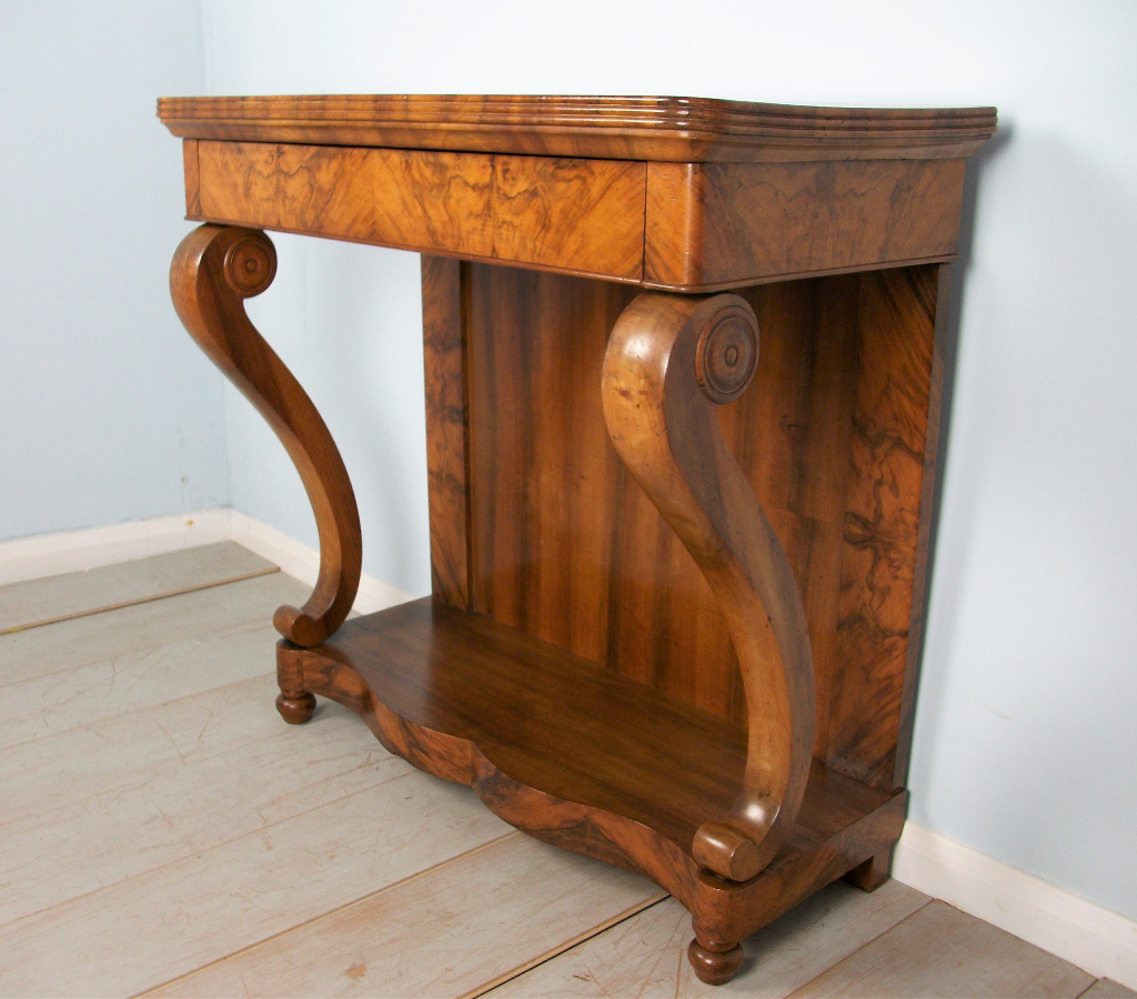 A Fine 19th Century French Walnut Console Table