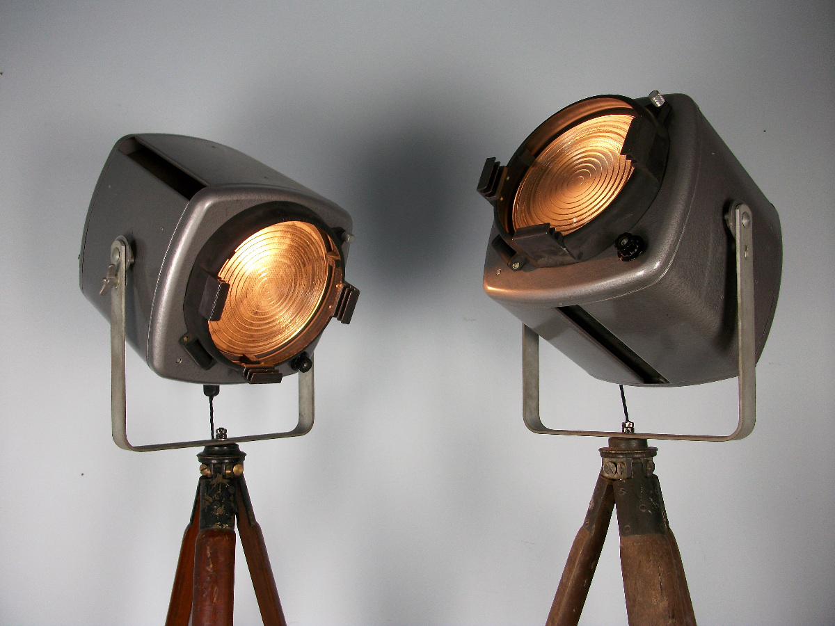 A pair of adjustable Studio Theatre Lights