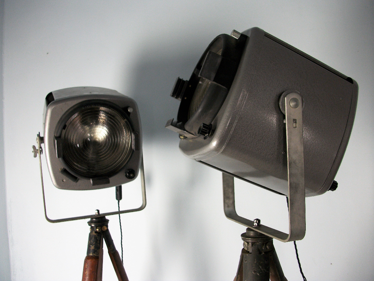 A pair of Studio Theatre Lights