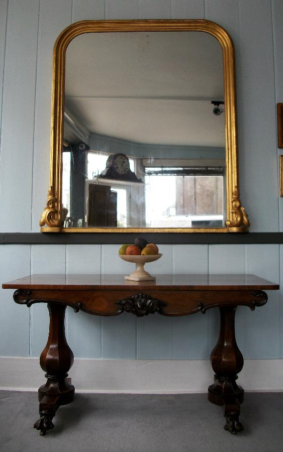 Victorian Gilt Over Mantel Mirror
