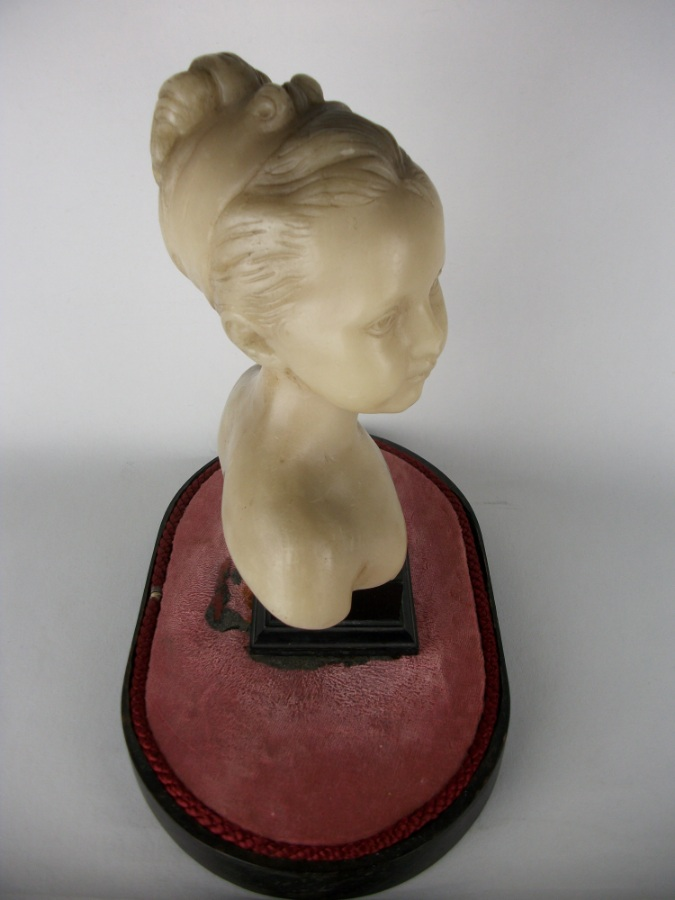 Wax sculpture of Louise Brongniart Under a Glass Dome (21).JPG
