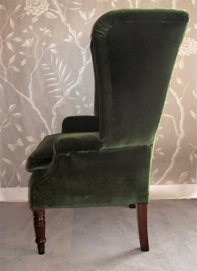 georgian wing back armchair antique wing back armchair ... - Antique Wing Back Armchair, Circa 1830