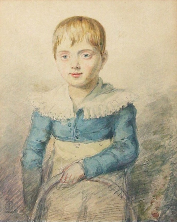 Portrait Watercolour of a child with hoop
