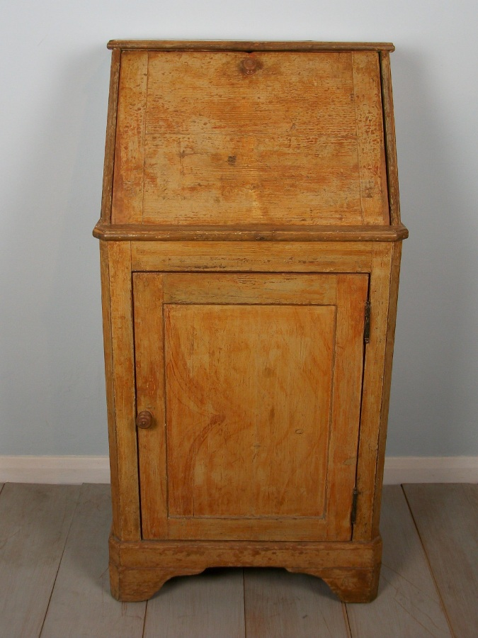 antique painted small bureau from a convent