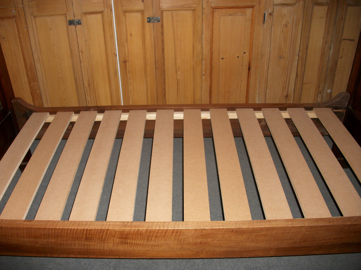 antique single bed - slats