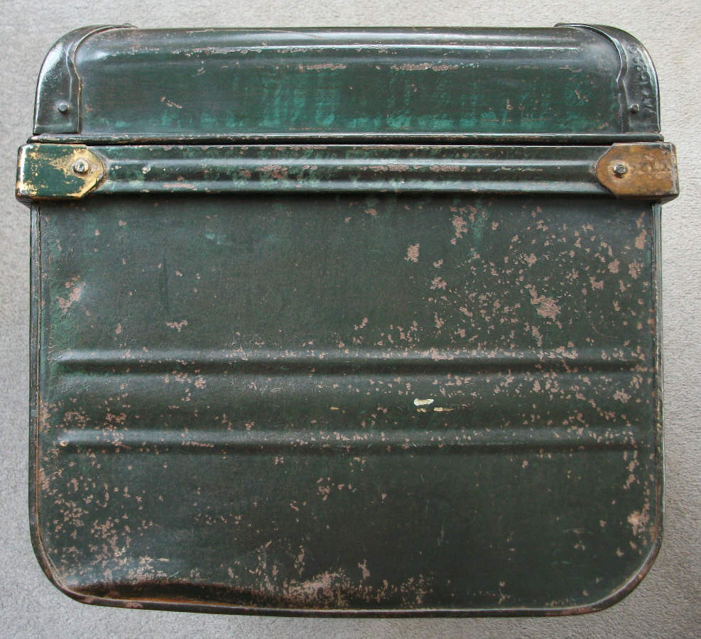 Vintage Painted Metal Trunk
