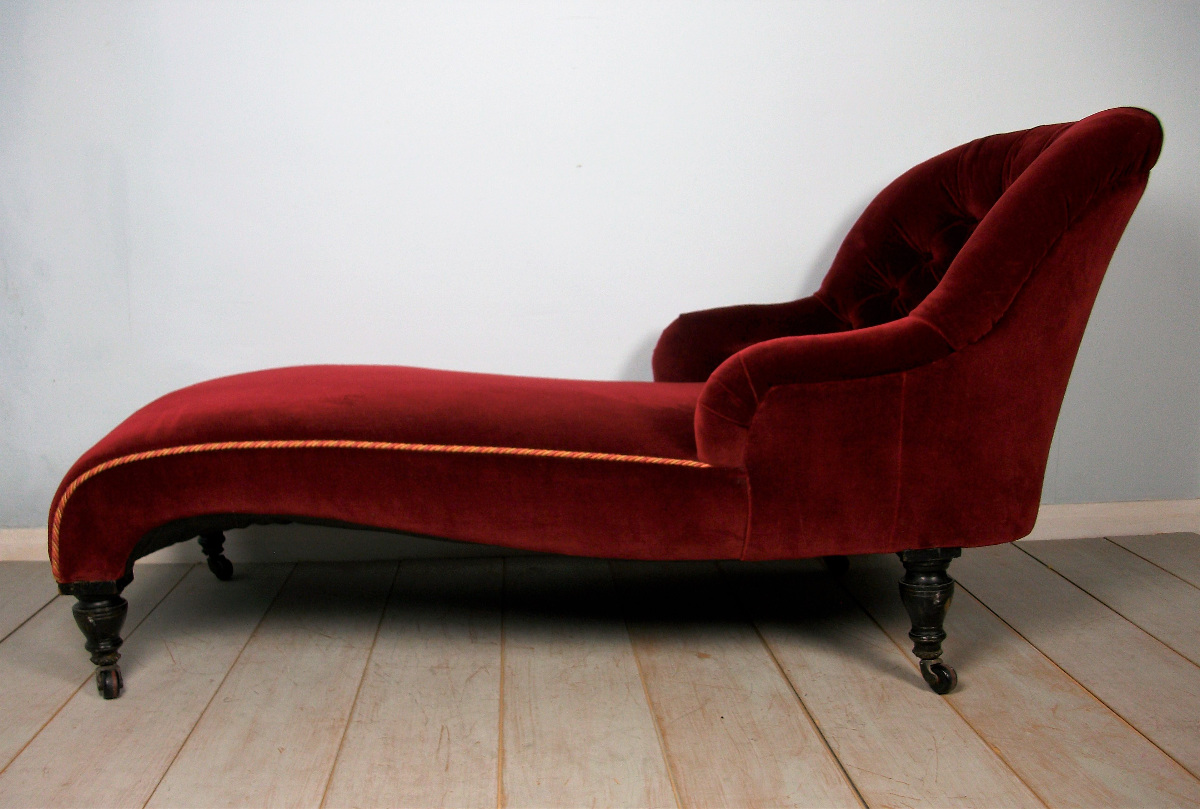 late Victorian Chaise Longue with spoon shaped end