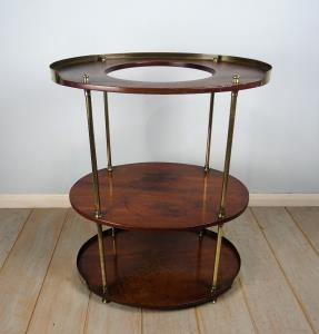 A Campaign Brass-Mounted Mahogany Occasional TableWashstand (1).JPG