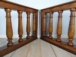 A Pair of Italian walnut Balustrade baluster rail