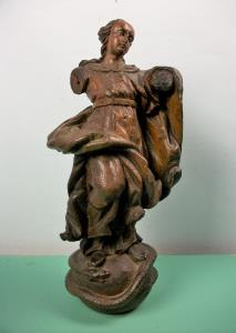 C17th Italian Carved Oak Statue of the Virgin Mary Madonna Immaculate Conception (1).JPG