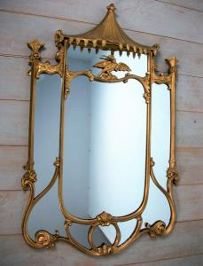 English Chinoiserie Chippendale Style Mirror