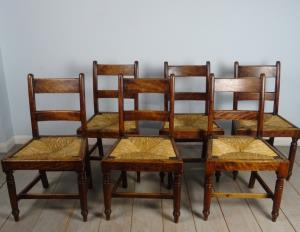 Country dining chairs group of 6 (1).JPG