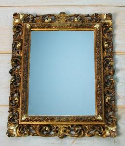 Florentine gilt carved and foliate scroll frame