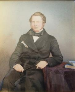 FINE WATERCOLOUR PORTRAIT OF AUGUSTUS GEORGE GUY, CIRCA 1840