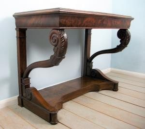 Antique Italian Mahogany Console Table