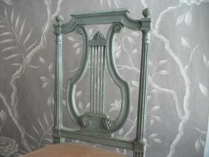 ANTIQUE FRENCH LYRE BACK CHAIRS
